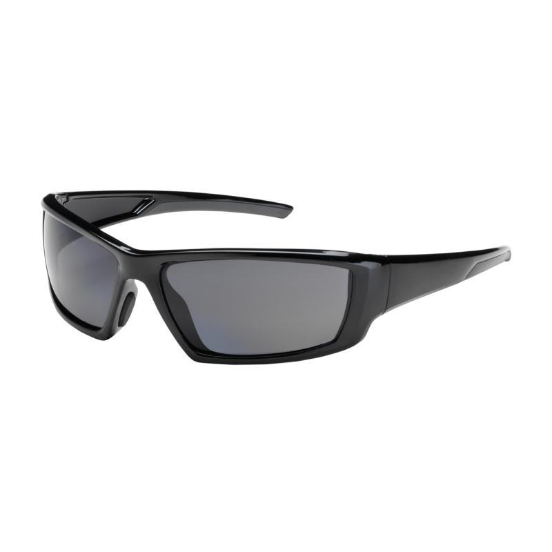 PIP Sunburst™ Gray Anti-Scratch/Fog Coated Polarized Lens & Black Full Frame Safety Glasses