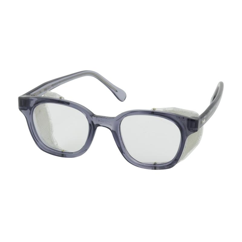 PIP Traditional Spectacle Clear Anti-Fog/Anti-Scratch Coated Lens Full Smoke Frame Safety Glasses