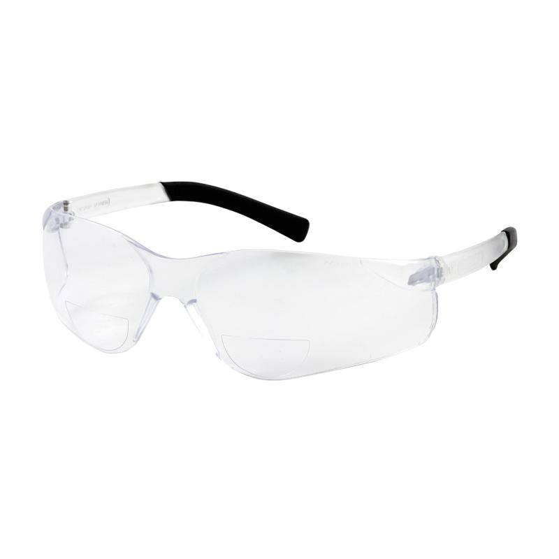 PIP Zenon Z13R™ Clear Anti-Scratch Coated Lens & Frame Semi-Rimless Safety Reading Glasses - +1.25 Diopter
