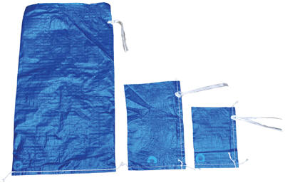 Polypropylene Woven Parts Bags, Blue 6 x 8