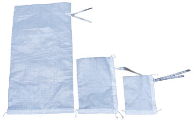 Polypropylene Woven Parts Bags, White 14 x 26