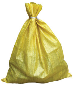 Polypropylene Woven Parts Bags, Yellow 6 x 8