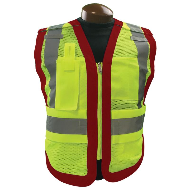 Public Safety Vest Class 2 Red Mutual Screw Supply