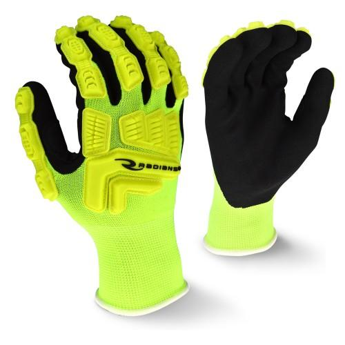 Radians High-Visibility Lime TPR Cut Resistant Work Gloves