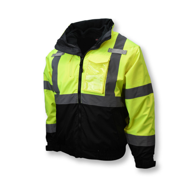 Radians Three-in-One Deluxe High Visibility Yellow Bomber Jacket
