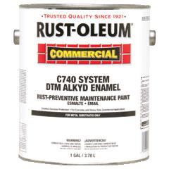 Rust-Oleum® DTM Alkyd Enamel Rust Preventative Maintenance Paint GLOSS WHITE (Gallon)