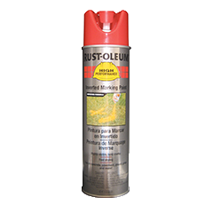 Rust Oleum 174 Safety Red Inverted Marking Paint 15 Oz