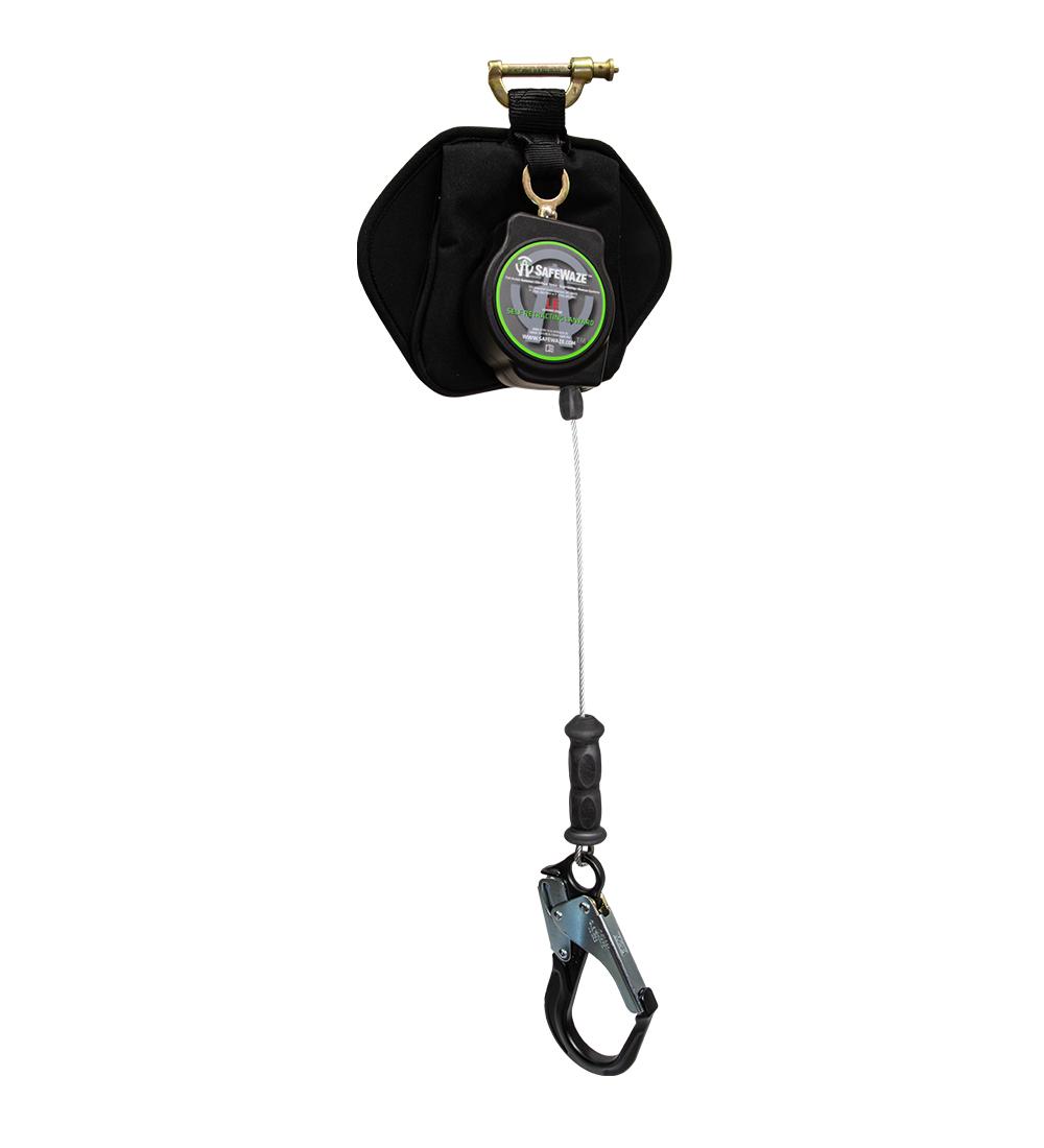 SafeWaze 11' Self Retracting Single Leg Leading Edge Cable w/ Aluminum Rebar Hook