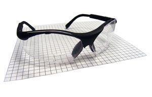 SAS 541-2000 Sidewinder Safety Glasses - Black. Frame with 2.0 X Reader Lens - Polybag (12 Pr)