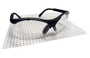 SAS 541-2500 Sidewinder Safety Glasses - Black. Frame with 2.5 X Reader Lens - Polybag