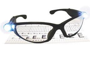 SAS 5420-25 LightCrafters Readers Safety Glasses with Led Lights Black Frame with 2.5X Readers Lens - Clamshell (6 Pr)