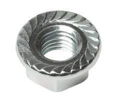 Serrated Large Flange Zinc & Bake Plated Steel Hex Lock Nuts