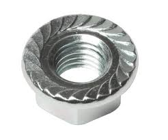Serrated Large Flange Zinc & Bake Plated Steel Hex Lock Nuts