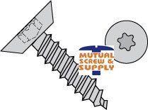 Six Lobe Flat Undercut Head Steel Zinc Plated Type AB Sheet Metal Screws