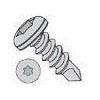 Six Lobe Pan Head #3 Point Steel Zinc Plated Self Drilling Screws