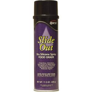 Slide Out Dry Silicone Spray (Food Grade), 11.5 oz Aerosol