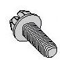 Slotted Indented Hex Washer Head Steel Zinc Plated Tri-lobular  Thread Rolling Screws