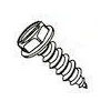 Slotted Indented Hex Washer Head Steel Zinc Plated Type AB Sheet Metal Screws