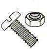 Slotted Pan Head Steel Zinc Plated Machine Screws & Nuts Kit