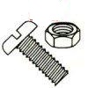 Slotted Pan Head Steel Zinc Plated Machine Screws & Nuts Kit