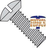 Slotted Undercut Oval Head 18/8 Stainless Steel Machine Screws