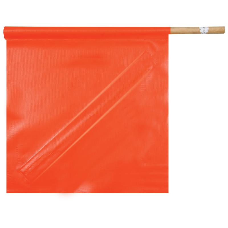 Solid PVC Flag w/ Stay, 24 Dowel 18 x 18