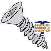 Square Drive Flat Head 18/8 Stainless Steel Type A Sheet Metal Screws