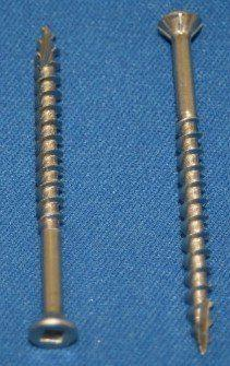 Square Drive Flat Head with Nibs 18/8 Stainless Steel Type 17 Wood Screws