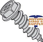 Square Drive Indented Hex Washer Head Steel Zinc Plated Type A Sheet Metal Screws