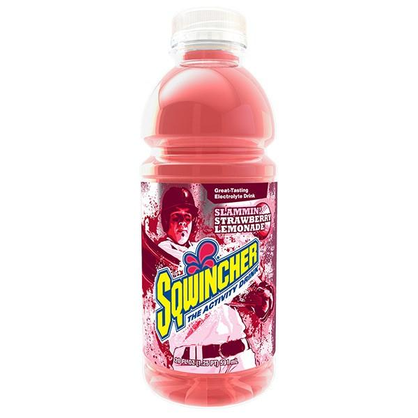 Sqwincher® Ready-To-Drink Widemouth Bottles, Strawberry Lemonade