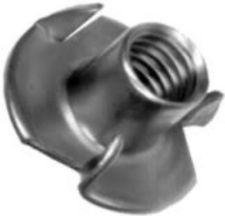 Stainless Steel 18/8 3 Prong Tee Nuts