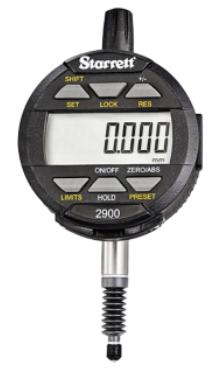 Starrett 25mm Range 0.01mm IP67 Protection 8mm Stem Electronic Indicator