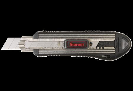 Starrett Exact Plus Large Extruded Aluminum Automatic Locking Utility Knife