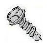 Steel Zinc Unslot Hex Washer Head #4 Point W/ Machine Screw Thread Self Drilling Screw