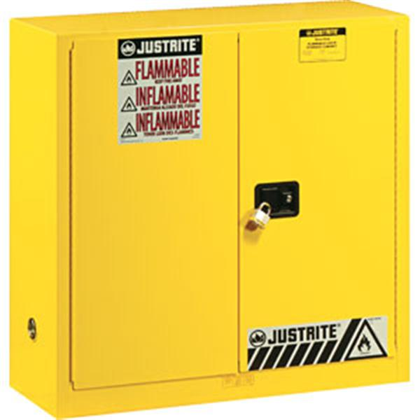 Sure-Grip® EX Safety Cabinets w/ Manual Doors, 30 gal, 44H x 43W x 18D, Yellow – FM, NFPA, OSHA