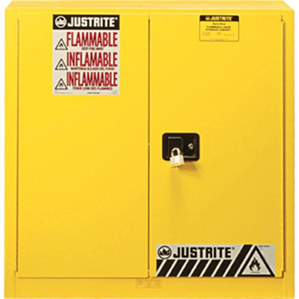 Sure-Grip® EX Safety Cabinets w/ Manual Doors, 45 gal, 65H x 43W x 18D, Yellow – FM, NFPA, OSHA