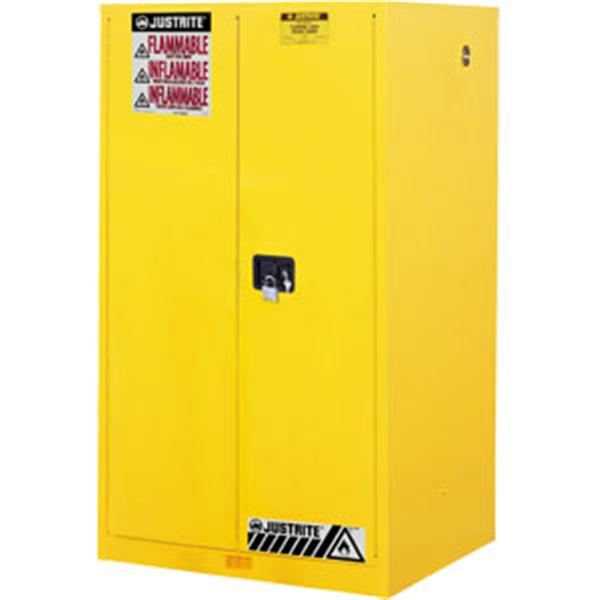 Sure-Grip® EX Safety Cabinets w/ Manual Doors, 60 gal, 65H x 34W x 34D, Yellow – FM, NFPA, OSHA
