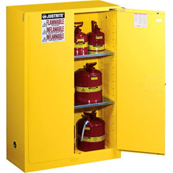 Sure-Grip® EX Safety Cabinets w/ Self-Closing Doors, 45 gal, 65H x 43W x 18D, Yellow – FM, NFPA, OSHA, Uniform Fire Code