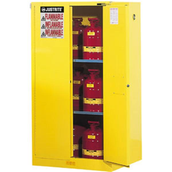 Sure-Grip® EX Safety Cabinets w/ Self-Closing Doors, 60 gal, 65H x 34W x 34D, Yellow – FM, NFPA, OSHA, Uniform Fire Code