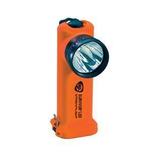 Survivor® LED Flashlight, AC/DC w/ Steady Charger, Orange