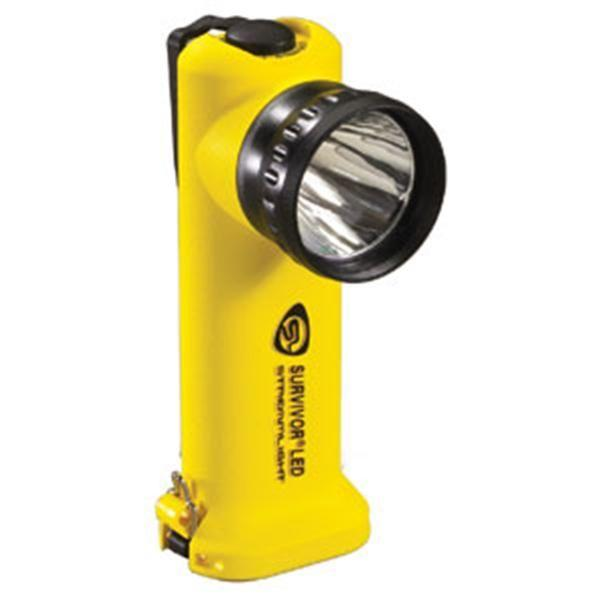 Survivor® LED Flashlight, AC/DC w/ Steady Charger, Yellow