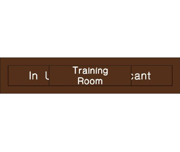 training room in use vacant engraved office occupancy sign mutual