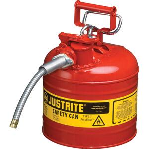 Type II Safety Can, 2.5 gal, 1 Hose, Red