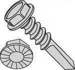 Unslot Hex Washer Head W/ Serration #4 Point Steel Zinc Self Drilling Screws