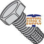 Unslotted Indented Hex Head Steel Zinc Plated Type F Thread Cutting Screws