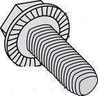 Unslotted Indented Hex Washer Head Serrated Steel Zinc Bake Wax Plated Tri-lobular  Thread Rolling Screws