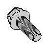 Unslotted Indented Hex Washer Head Steel Zinc Green Bake Wax Tri-lobular TT Thread Rolling Screws