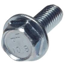 Unslotted Indented Hex Washer Head Steel Zinc Plated Machine Screws
