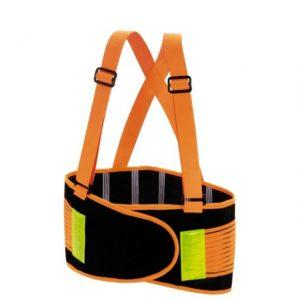 Valeo 8 High Visibility Orange Back Support Belt Large
