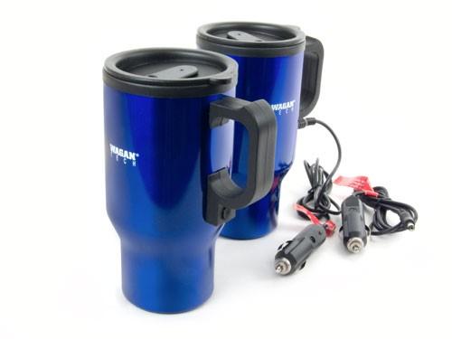 Wagan 12 Volt Ceramic Heated Travel Mug, Blue